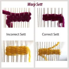 The 3 Elements of a Quality Weaving (And How to Achieve Them) & Mirrix LoomsWhy Warp Spacing Matters - Mirrix Tapestry & Bead LoomsClick Visit link to read Weaving Loom Diy, Pin Weaving, Rug Loom, Navajo Weaving, Inkle Weaving, Weaving Tools, Weaving Projects, Weaving Art, Weaving Patterns