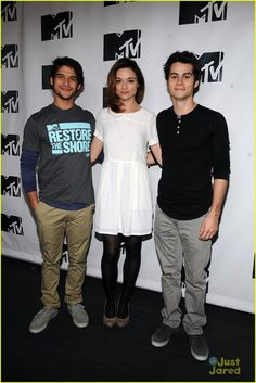 Tyler Posey, Crystal Reed & Dylan O'Brien