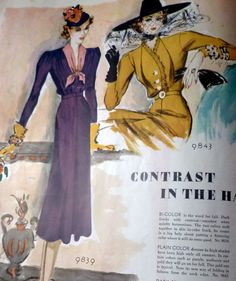 McCall's magazine, August 1938 featuring McCall 9839 and 9843