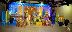 Decoração por Flavia Dias Decor Tema: Minions na Praia #FestaDoMeuLindo