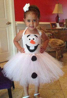 2015 costumes congelado Olaf Dia das Bruxas que as meninas vão gostar - vestido…
