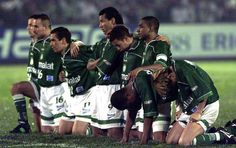 Jogadores Palmeiras - Libertadores 1999 (Foto: Marcos Mendes / Agência Estado)