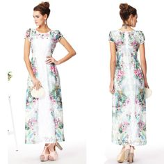Free Shipping Holiday Style 2014 Summer Charming Printed Lace Long Dress 140509ZZ01 $69.90