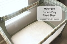 Minky Fitted Pack-n-Play/ Play Yard Sheet- YOU PICK COLOR