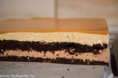 Prajitura Noisette - Lucky Cake Vanilla Cake, Mousse, Gem, Caramel, Cheesecake, Desserts, Food, Sweet Treats, Deserts