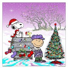 'Merry Christmas', rom Charlie Brown, Snoopy, and Woodstock. Charlie Brown Und Snoopy, Merry Christmas Charlie Brown, Peanuts Christmas, Noel Christmas, Winter Christmas, Vintage Christmas, Christmas Crafts, Disney Christmas, Christmas Cartoons