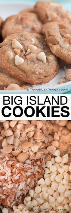 Big Island Cookies are the best sweet and salty treat! With crisp edges, a soft middle, and coconut, coconut oil and a delicious nutty flavor, these cookies are sure to disappear fast.