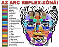 arc/reflexzónák Diy Beauty Secrets, Goal Charts, Acupressure Treatment, Reflexology Massage, Face Yoga, Facial Exercises, Health Facts, Massage Therapy, Natural Medicine