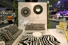 Pallet wall with mirrors - what's not to love in this #booth setup? #decor #eventprofs