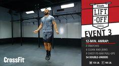 CrossFit Liftoff: Event 3–AMRAP Amrap Crossfit, Crossfit Lifts, Crossfit Games, Lift Off, Body Exercises, Full Body, Healthy Foods, Fitness, Sports