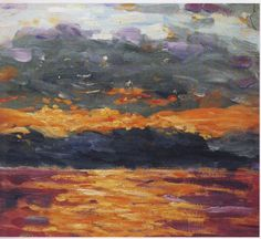 Winston Churchill ~ Sunset Over the Sea