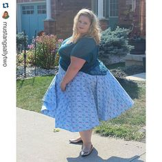 """@mustangsallytwo is gorgeous in our June Skirt from the 2015 Curvy Kitten Collection! heart_eyes_cat ・・・ Yeah! It's Friday! My new blog post """"Full Circle"""" is now live! Click the link in my bio to check it out. camera cred to @thera_cloud14"""