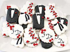 Wedding cookies by Sweet Sugarbelle
