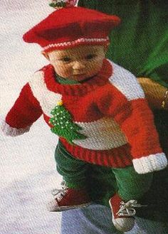 BABY'S CHRISTMAS TREE PULLOVER (1-YEAR OR 2-YEAR) ~ ADVANCED / MOMS LOVE OF CROCHET.COM