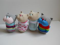 Luxurious Single Picture The Web Sock Crafts, Cat Crafts, Sock Bunny, Sock Toys, Sock Animals, Sewing Dolls, Soft Dolls, Soft Sculpture, Fabric Dolls