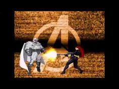 Black Widow vs Magneto Avengers X Men Marvel Super Heroes Game