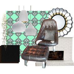 Diamond Mint Mid-Century Upholstered Chair