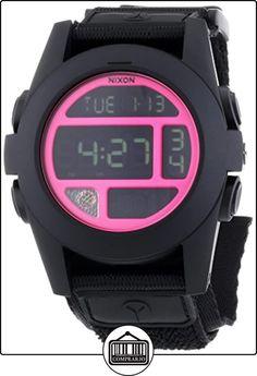 Nixon  - Reloj Digital de Cuarzo unisex, correa de Tela color Negro de  ✿ Relojes para hombre - (Gama media/alta) ✿