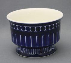 Arabia, sokerikko, Valencia, Ulla Procopé Sugar Container, Blue And White China, Metallica, Valencia, Finland, Pottery, Ceramics, Tableware, Inspiration