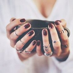 💅🏻 Have You Tried these 70+ Elegant Chic Classy Nail Art Loved By Both Saint & Sinner? Do you know Burgundy Colors represent Ambition,Wealth,Power & Fearless Love? #NotStayingBlueToday #BurgundyColors 🍒  nails nail nails polish how to harden nails winter nail designs nails manicure ideas nails black engagement nails short nails nail desighns peach nails party nails of nails nice nails nails glitters dark nails nails matte nail painting nails day
