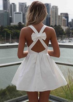 Angel Bow Dress. soooo pretty! Wish I could wear this for rehearsal dinner!