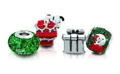 Celebrate the holidays with silver Snoopy beads and charms from the Peanuts by Persona collection.  Find them all at www.personaworld.com