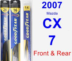 Front & Rear Wiper Blade Pack for 2007 Mazda CX-7 - Hybrid