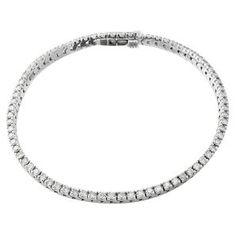 #Malakan #Jewelry - White Gold Diamond Tennis Bracelet B131BW #Bracelet #Fashion #TennisBracelet