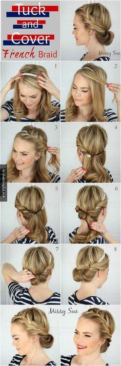 Schöne Frisur für den Sommer!