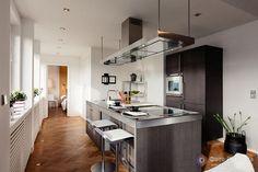 хороший цвет для кухни в сочетании со светлыми стенами