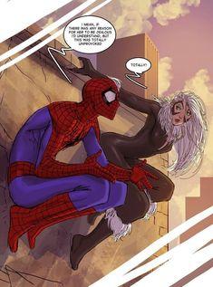 by nebezial, Spiderman and Black Cat Spiderman Black Cat, Black Cat Marvel, Spiderman Art, Spectacular Spider Man, Amazing Spider, Marvel Art, Marvel Heroes, Comic Books Art, Comic Art
