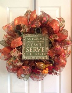 Greet your guests this fall and Thanksgiving season with this festive wreath! Measures approximately 24x24. Only ONE available at this time!