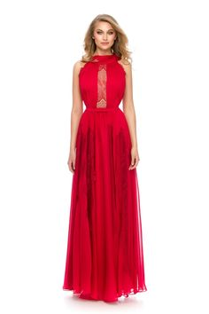 Red dress = hot look! ❤ Must have ORERA evening dress by Athena Philip >>> www. Glamorous Evening Dresses, Luxury Dress, Must Haves, Glamour, Elegant, Formal Dresses, Hot, Color