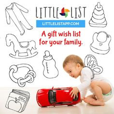 "Little List is a gift wishlist for your family. Your answer to ""What does _____ want for Christmas?"" Brought to you by @babylist."