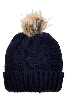 Topshop Faux Fur Cable Beanie #giftsforher