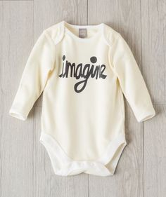 Wrap baby in soft cotton sweetness and an inspirational message - Imagine. Featuring original hand-drawn script lovingly created by Hallmark Baby artists. Hallmark Baby, Girl Outfits, Cute Outfits, Gender Neutral Baby Clothes, Baby & Toddler Clothing, Babies Clothes, Personalized Baby, Cute Dresses, Cute Babies