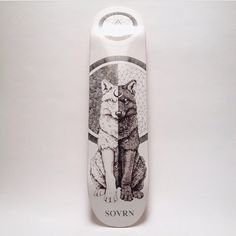 SOVRN skate deck by the tattoo artist Peter Carrington #tattoos #wolf #board