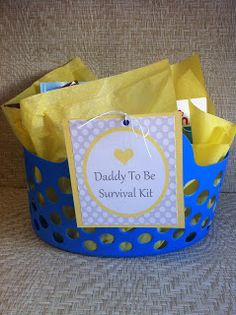 Daddy To Be Survival Kit.  Cute Father's Day idea.