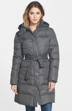cc5ee9f02844 Larry Levine Down  amp  Feather Fill Coat with Detachable Hood available at   Nordstrom Kensington