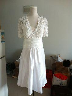 Lace Wedding Dress Plus size Wedding Dress Bridal by wonderxue,
