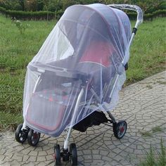 ANTI-MOSQUITO NETS FOR BABY CARRIAGES OR STROLLERS . CHOOSE FROM WHITE, PINK, BLUE OR PURPLE