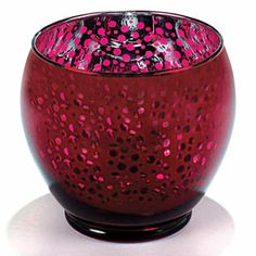 NEW! Round Cranberry Votive (Large) - Bring a touch of festive elegance to your home this Christmas! (PN CT90420) $12.98 CAD