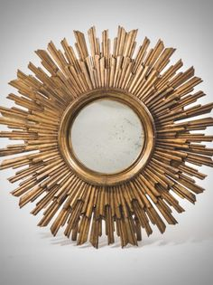 Large French Gilt Sunburst mirror c.1920