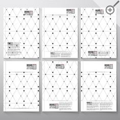 Brochure with rhombus and nodes by VectorShop on Creative Market