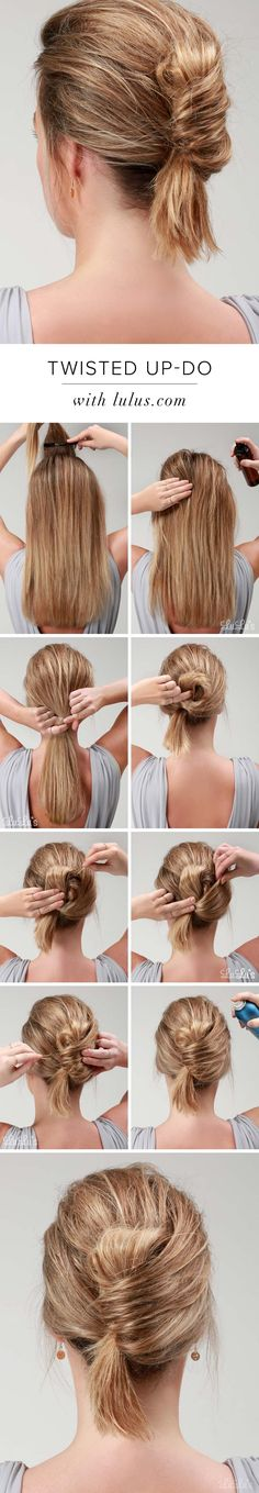 Lulus How-To: Twisted Up-Do at LuLus.com!