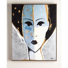 Rfa Fine Art Madame X Blue Giclee (38 655 UAH) ❤ liked on Polyvore featuring home, home decor, wall art, multi colors, blue wall art, handmade home decor, blue abstract wall art, abstract home decor and blue home decor