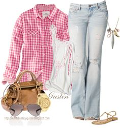 """""""pink and blue"""" by stacy-gustin on Polyvore"""
