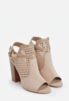 Kessie Heeled Sandal in Taupe - Get great deals at JustFab Cute Ankle Boots, Cute Shoes, Me Too Shoes, Bootie Boots, Shoe Boots, Girls Football Boots, Everyday Shoes, Womens High Heels, Chunky Heels