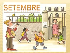 ELS MESOS DE L'ANY Lany, Busy Bee, First Day Of School, Classroom Organization, Childcare, Family Guy, Teaching, Comics, Books