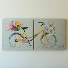 """Pets on Bikes"" Canvas Wall Art by Gefii gefii http://www.amazon.com/dp/B00Q2KK8P4/ref=cm_sw_r_pi_dp_oQLEvb0ZKT8MS"